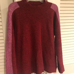Mock neck sweater from Evereve